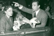 """Simone Signoret and Yves Montand in """"Six jours"""""""