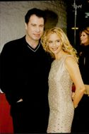 John Travolta with his wife Kelly Preston at the premiere of Griffin Dunnes 'Addicted to Love'.