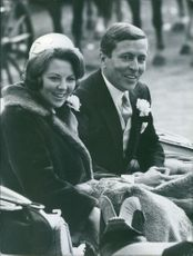 Queen Beatrice and Prince Claus, 1968.