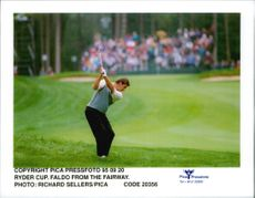 Golf player Nick Faldo during the Ryde Cup in 1995