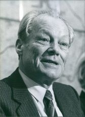 West German politician, Willy Brandt, 1983.