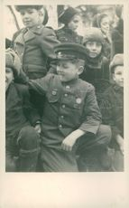 Boris with other kids his age in Germany.