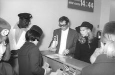 Roger Vadim with his friends.