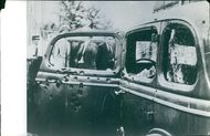 View of a damaged vehicle.