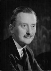 Close up of British politician Sir Harry Legge-Bourke who was elected member of Parliament for Isle of Ely in 1945 as a member of the Conservative Party