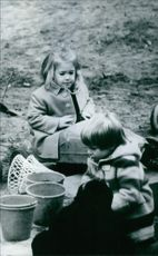 Princess Alexia playing with another kid. 1970