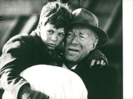 "Pelle Hvenegaard and Max von Sydow in the ""Pelle conqueror"""