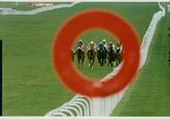 Sure Sharp with jockeyn Steve Cautnen (second from right) on the way to victory at Earl of Sefton Stakes at Newmarket