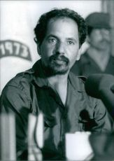 Mohammed Abdel Aziz during a conference. 1989.