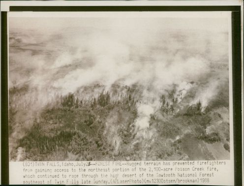 rugged terrain has prevented fire fighters.