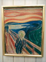 "Edvard Munch's painting ""Skriet"" hangs on the wall"
