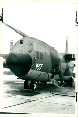 One of the two RAF hercules transport.