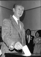 "John Mary ""Jack"" Lynch casting his vote in general elections."