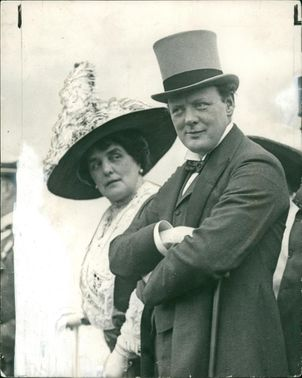 Winston Churchill with his wife