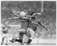 Andy Gray Everton, and Mark Hughes Manchester United, FA Cup final