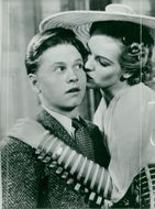 """Mickey Rooney in the movie """"Stacky Andy Hardy"""" - Year 1939"""
