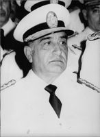 Close up of Cristino Nicolaides in uniform.