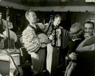 Karl-Olof Finnberg and his band members performing in Embassy club in 1954, Sixty-sixth of sixty