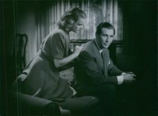 """A scene from the film """"Two People"""" casting by Wanda Rothgardt and Georg Rydeberg, 1945."""