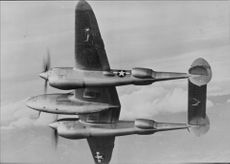 American military aircraft in the air. - 1 December 1944