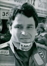 French racing driver, Philippe Alliot. 1986.