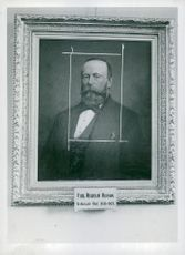 Portrait board of Arboga Mechanical Workshop's first boss Carl Wilhelm Olsson