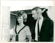 Roger B. Chaffee with  his wife martha