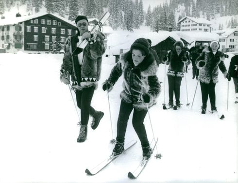 Princess Margriet learns to ski, 1963.