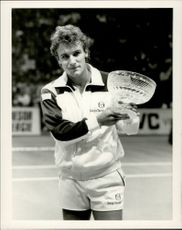 Mats Wilander after the win against Broderick Dyke