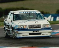 Rickard Rydell during the British Touring Car Championshiop (BTCC) at Silverstone.