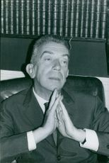 Marcel Ayme in an office, 1962.