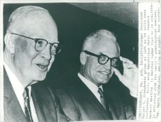 Ex-President Eisenhower and President Barry Goldwater at the Republican Party's Meeting in Herheshey