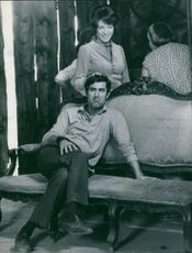 Photograph of Eddie Barclay and his wife Marie Christine.