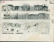 A drawing of the elevations to the River Cam.