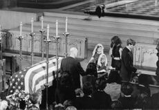 Robert F. Kennedy's family at funeral.