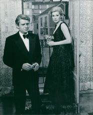 Susan Hampshire with a man.