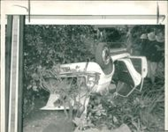 road accidents:the end of the 80ft drop.
