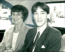 Paul Davies with his mother.