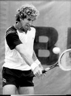 Brian Gottfried in action during French Open 1982