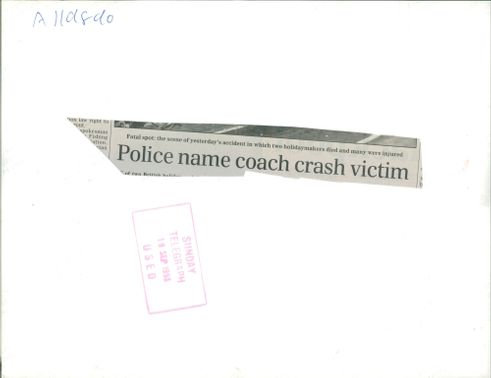 The Beaune coach crash: police name victim.