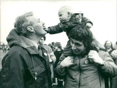 Tony Benn with William Straw and Jack Straw.