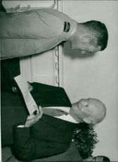 William Andersson receives the Legion of Merit by US President Eisenhower