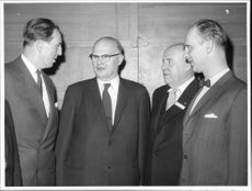 The Governors Valter Aman and Ruben Wagnsson well as the organization's President Filip Anger and its director Otto Nordenskiöld on TCO Congress
