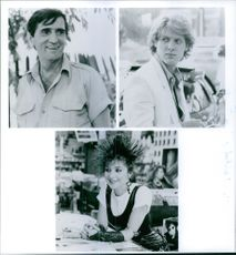 Harry Dean Stanton,  James Spader and Annie Potts in the movie Pretty in Pink, 1986.