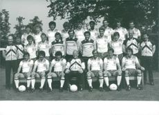 Group Photograph of England's World Cup Squad.