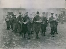 French prisoners in detention camp in Germany 1915