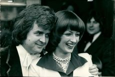 Rodney Bewes with his bride.
