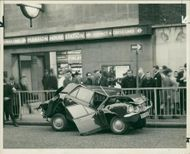 road accidents:new ford cortina was crushed.