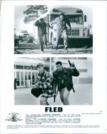 Different scenes from the film Fled with Laurence Fishburne as Charles Piper and  Stephen Baldwin as Luke Dodge, 1996.