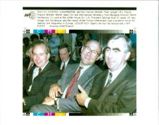 Theo Waigel with Michael Sapin and Miche Camdessus.